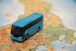 バスのおもちゃの写真です