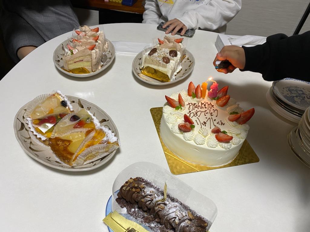誕生日のお祝いです