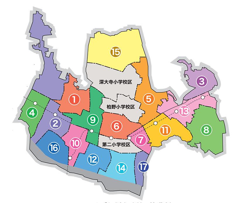 地区協議会小学校区説明地図